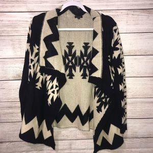 Luxe Aztec Print Open Sweater (0342)